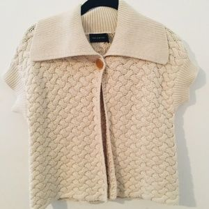 The Limited One Button Cardigan in Cream